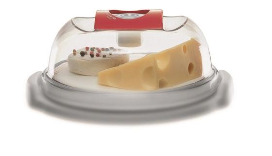 Сырница и емкость для тортов квадратная 22х22х13 см - 3,4 л