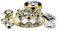 Барон - комплект на 6 персон стальной с золотым декором