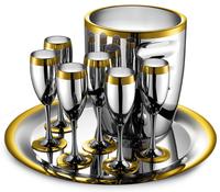Ла Перле - комплект на 6 персон стальной с золотым декором