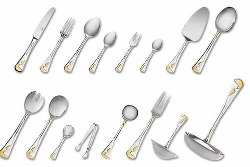 Кимоно - дополнение к набору столовых приборов (12 предметов) c золотым декором