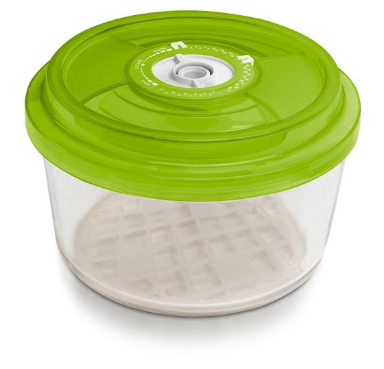 Стеклянный контейнер круглый, 18 см, высота 9,5 см - 1,8 л