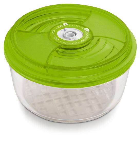 Стеклянный контейнер круглый, 23 см, высота 9,5 см -  3,3 л