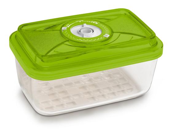 Стеклянный контейнер прямоугольный средний 12x20x8 см - 1,5 л